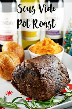 This Sous Vide Pot Roast is absolutely delicious and would be perfect for a holi. - Sous Vide - This Sous Vide Pot Roast is absolutely delicious and would be perfect for a holiday party. It is easy to make, full of flavor, and moist. Sous Vide Chuck Roast Recipe, Chuck Roast Recipes, Pot Roast Recipes, Game Recipes, Recipies, Dinner Recipes, Instant Pot Sous Vide, Sous Vide Cooking, Slow Cooking