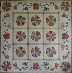 """Dresden plate quilt made by Eva Johansen DK....consider using 2 plates to join by 1"""" at sides, but join the points to one tip to create a heart......:-)"""