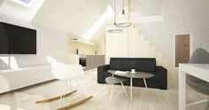 Mieszkanie wakacyjne 2 pokoje i antresola - Mechelinki   Architekt wnętrz - Gdańsk, Gdynia, Sopot - Dragon Art
