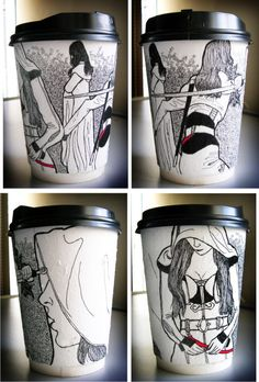 15 Incredibly Creative Examples Of Coffee Cup Art | Cup art and ...