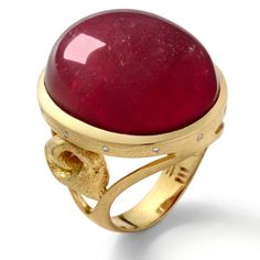 Ruby set in Yellow Gold Ring with hand made knots by Mary Esses Michelle Obama is a big fan of those designs and was spotted wearing Mary's jewelry quite a few times. Ruby Jewelry, Pandora Jewelry, Fine Jewelry, Diamond Jewelry, Jewellery, Modern Jewelry, Luxury Jewelry, Brighton Jewelry, Love Ring