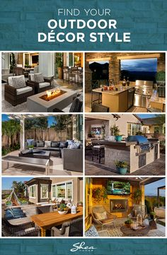 Redecorating your outdoor space this summer? Consider adding patio lights, a fire pit, outdoor furniture and more for a comfortable space. Find your outdoor décor style to get the patio idea right for your home and family.