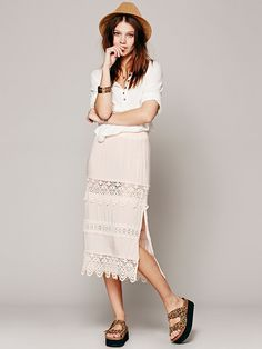 Free People Pretty Hip Half Slip, $98.00