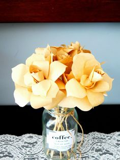 DIY Paper Flowers from Coffee Filters