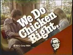 Kentucky Fried Chicken commercial - 1984 Fast Food Slogans, 80s Food, 1980s Kids, Kentucky Fried, Old Commercials, Days Of Our Lives, Coming Of Age, Kfc, Advertising Design