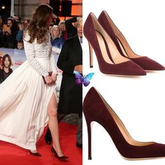 Gianvito Rossi '105′ Suede Pumps in Bordeaux ($675) ♥