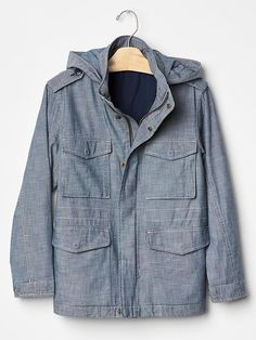 384dc5246343 Chambray field jacket Boys Clothes Sale