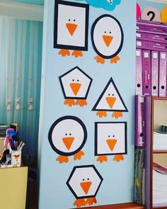 Shape chart examples for clipboard classroom ornament work 😊😊 # preschool teacher - New Deko Sites Preschool Decor, Kindergarten Classroom, Classroom Decor, Class Decoration, School Decorations, Board Decoration, Toddler Activities, Preschool Activities, Art For Kids