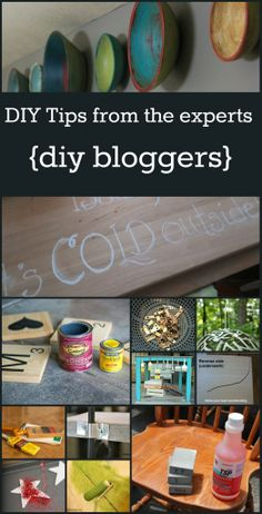 Great collection of DIY tips from expert DIY Bloggers