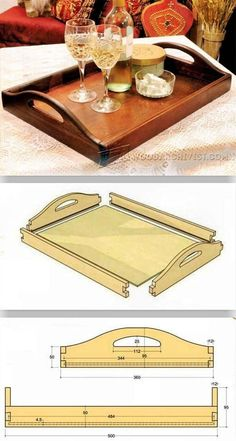 DIY Butler Tray - Woodworking Plans and Projects Woodworking Projects, Woodworking Projects Diy, Woodworking Projects That Sell, Woodworking Projects For Kids, Woodworking Projects For Beginners, Woodworking Projects Plans, Woodworking Projects Furniture, Woodworking Projects Diy How To Make. #woodworkingprojects Woodworking Basics, Beginner Woodworking Projects, Woodworking Crafts, Woodworking Plans, Woodworking Shop, Woodworking Classes, Youtube Woodworking, Woodworking Patterns, Woodworking Machinery