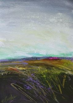 January Field One, abstract landscape by Carol Engles -- Carol Engles