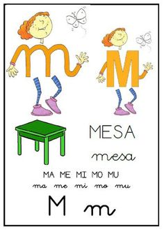 Abecedario: M Spanish Alphabet, Learning Spanish, Diy For Kids, Montessori, Homeschool, Letters, Teaching, Activities, Comics