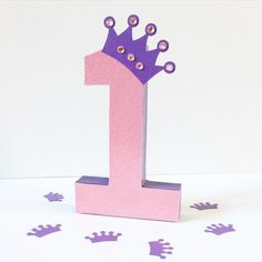 Working on a new version of my popular princess party decor! Pink and purple!