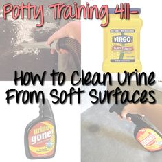 Best way to clean urine from soft surfaces! Good to know if you are planning to potty train soon or are currently potty training!