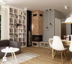 Salon, styl nowoczesny - zdjęcie od Grafika i Projekt architektura wnętrz