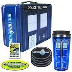 Doctor Who Tardis Tin Tote SDCC Gift Set