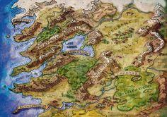 Fantasy Map Colour