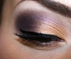 gold & plum w/winged liner