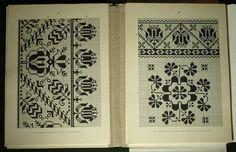Romanian folk embroidery pattern4. - Saxon costume linen