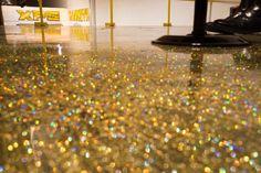 "How to do a Metallic Epoxy Floor ""Gold Glitter"" Start to finish - YouTube"