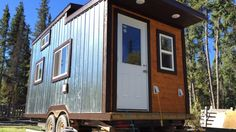 Zachary Hamlyn, a 19-year-old Yellowknife carpentry apprentice, spent his 'off hours' over the summer building a tiny house for his older brother, who lives in Whitehorse.