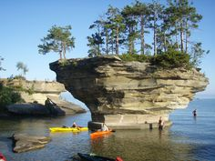 Best way to get up close and personal with the amazing rock formations located just off the shore a short 30 minute trip by Kayak.