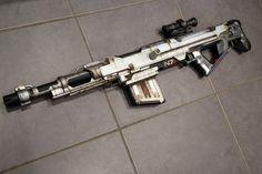 Nerf mass effect sniper Custom Guns, Custom Art, Nerf Snipers, Modified Nerf Guns, Nerf Mod, Vault Tec, Ajin Anime, Apple Model, Weapon Concept Art