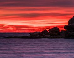 Sunrise at Sherman Cottage is a fine art landscape photograph taken at Good Harbor Beach in Gloucester Massachusetts. It was about 30 minute