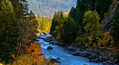 Fall Colors On The Wenatchee River 16 x 8.88 by RainyDayzArt, $35.00