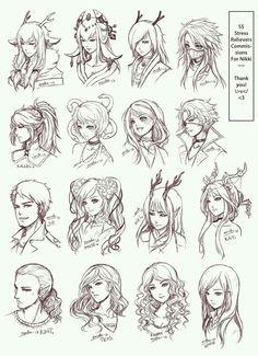 anime, manga, and draw image