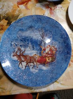 Decoupage Plates, Double Exposure Photography, Xmas, Christmas, Tableware, Hair, Porcelain Ceramics, Canisters, Dishes