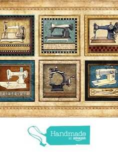 Sewing Quilting Art Print Signed by Artist Dan Morris titled Vintage Sewing Machines, Choose print size, Option to mount print from Dan Morris Art & Design http://www.amazon.com/dp/B015TTPHDQ/ref=hnd_sw_r_pi_dp_X4fsxb159BZ56 #handmadeatamazon