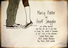 converse hipster rocker retro hand drawn illustration diy digital PRINTABLE WEDDING INVITATION suite