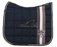Horse English Dressage Eskadron Saddle Pad Blanket Black Navy Dark Blue Light Brown Tan White