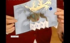 Reindeer Pop-Up Card....great website with great instructions.