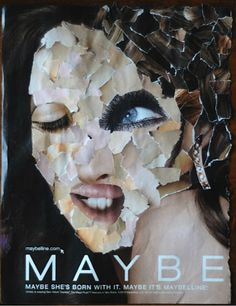 Collage: A work of art created by gluing bits of paper, fabric, scraps, photographs, or other material to a flat surface. Face Collage, Magazine Collage, Art Classroom, Face Art, Art Projects, Halloween Face Makeup, Fabric Scraps, Abstract, Vocabulary