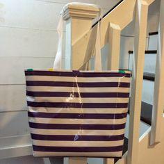 Large Tote Bag/ Purple Tote Bag / Beach Bag / by ShopMayfieldLane