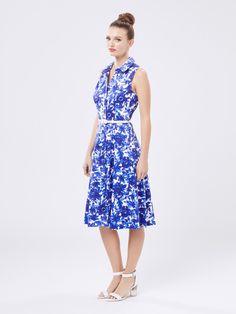 Blue Moon Shirt Dress