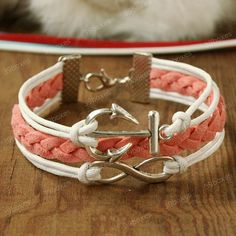 Girlfriend gift  infinity bracelet with anchor for by 39boxes, $6.99 Jen