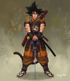 This Goku by is absolutely BEAST. You could put Samurai Armor on a chicken and it would look badass so this is amazing! Nice This Goku by is absolutely BEAST. You could put Samurai Armor on a chicken and it would look badass so this is amazing! Dragonball Anime, Dragon Ball Goku, Goku E Vegeta, Manga Anime, Goku Manga, Anime Demon, Manga Girl, Anime Girls, Anime Art