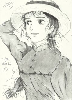 howl's moving castle sketch - Google Search