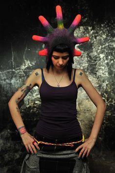 Unique+handmade+felt+hats++Eclipse+hat+pink+by+Feltthink+on+Etsy,+$85.00