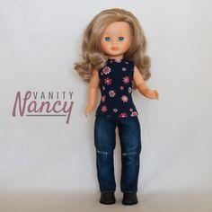 Tutorial en PDF para realizar tres camisetas entalladas distintas para  Nancy New o Nancy Colección. Camisetas sin mangas f1500e14ecd