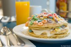 When it comes to the artistry of the American breakfast, creativity is hard to find. You just have to look for it. From Fruit Loop Pancakes to Lucky Charms Martinis, these novel takes prove that, in the era of egg-white omelets, indulgence is fine -- so long as it's inspired, illustrious and you know, intermittent. So put that fruit cup on hold, ditch the Greek yogurt and banish Meuslix...if just for a day. These nine breakfast bad boys are square one superstars.