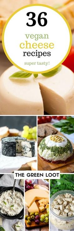 These vegan cheese recipes are the best. Make an easy, melty mozzarella, cashew, almond, or nut-free cheese at home today. Dairy-free and delicious!   The Green Loot #vegan #dairyfree