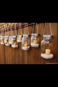 Outside themed prom, cool ideas with the candles and jars.