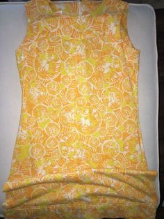 Vintage Lilly Pulitzer women's size 10 yellow gold lion dress  #LillyPulitzer