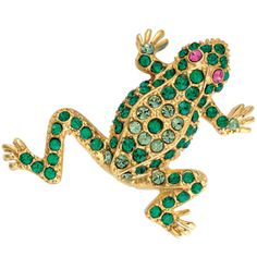 Parisian Jeweled Frog Pin -In nineteenth-century France, many jewelry houses provided adornments for the bourgeoisie while also striving for technical innovation in their craft. Among these firms was Maison Plisson et Hartz, whose jewelry can be found in the Metropolitan Museum's collection. Their popular designs included animals such as rabbits, cats, lizards, tortoises, and crabs; these were conceived en ronde bosse (in the round) and pavé-set with diamonds, decorated with gems.