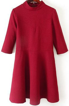 Vestido manga media-rojo vino 18.85