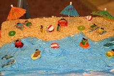 Funny Beach Cake 4th of July Summer Cake IDea